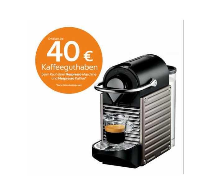 krups xn 3005 pixie titan nespressoautomat kapselautomat fuer 7750e inkl versand 40e kaffeeguthaben statt 9044e