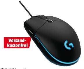 logitech g pro gaming maus schwarz fuer 37e statt 5390e