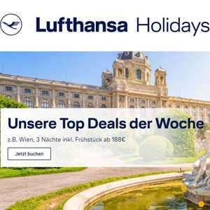lufthansa holidays 4 tage im hotel inkl fruehstueck fluege z b berlin prag stockholm wien ab 188e