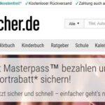 Masterpass: 15€ Sofortrabatt bei Buecher.de