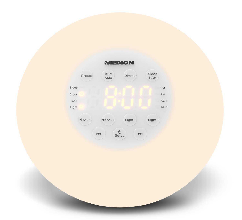 medion life p66080 md 43608 wake up light lichtwecker inkl radio bei amazon prime