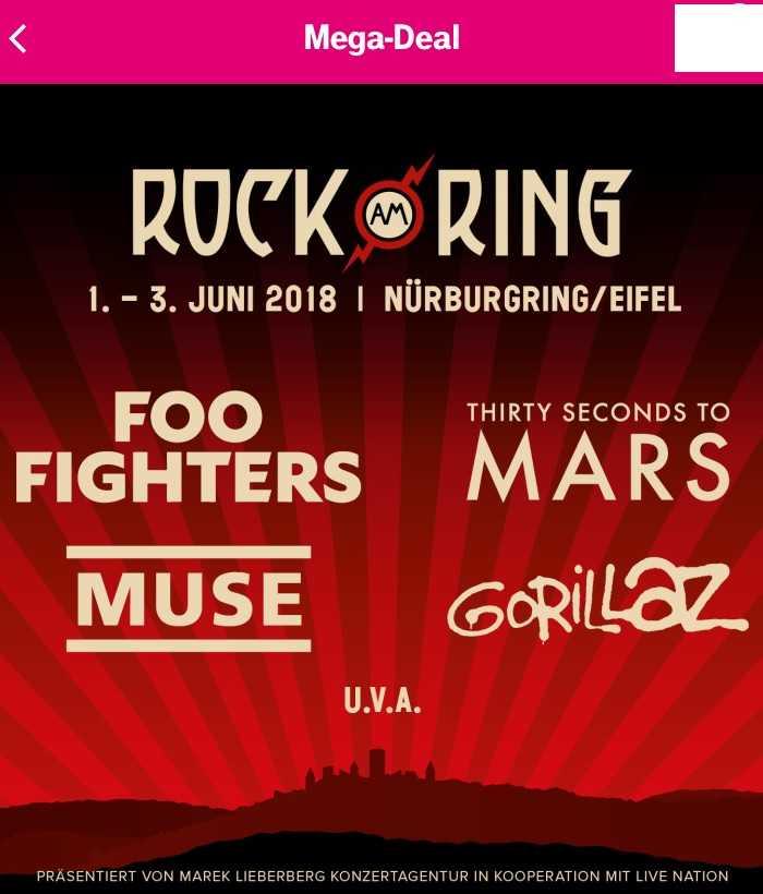 mega deal guenstige tickets fuer rock am ringrock im park 1 3 juni 2018 inkl gratis tshirt