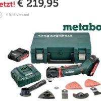 metabo multitool set akku 2x 2ah fuer 22590e