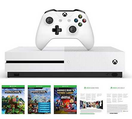 microsoft xbox one s 500gb konsole minecraft complete adventure bundle inkl live gold game passfuer 195e statt 27999e