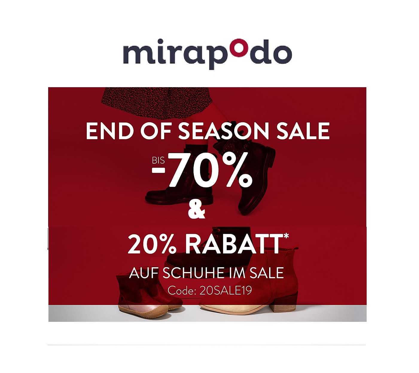 11c3a8fedad2c1 mirapodo  Schuhe im End of Season Sale mit bis zu 70% Rabatt + 20%  Extra-Rabatt!