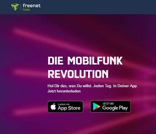 mobilfunk revolution freenet funk unlimitierte lteallnetflat im o2 netz fuer 099 e pro tag 1