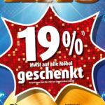 Möbel Roller: 19% MwSt geschenkt vom 11-17.02.18