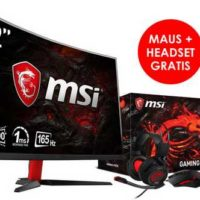 msi optix ag32c bundle msi optix ag32c gaming display interceptor ds b1 gaming mouse und das ds502 gaming headset fuer 349e statt 51816e