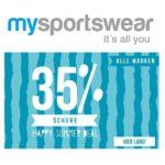 mysportswaer 35% Rabatt auf alle Schuhe!