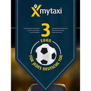 mytaxi 3e rabatt bei jedem deutschlandspiel weitere 3e fuer jedes tor