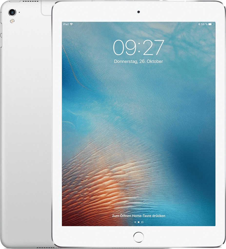nbb apple 97 ipad pro 32 gb wifi silver fuer 379 e statt 44590 e