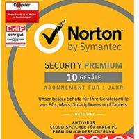 norton security premium antivirus software 2018 zuverlaessiger virenschutz fuer bis zu 10 geraete fuer 2392e statt 2930e