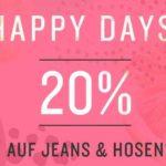 20% Rabatt auf Jeans und Hosen bei Tom Tailor!