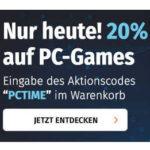 Müller: 20% Rabatt auf alle PC-Games