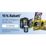 Nur heute bei Müller.de: 15 % Rabatt auf alle verfügbaren Anime Filme