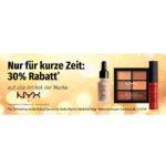 Nur heute bei Müller.de: 30 % Rabatt auf alle Artikel der Marke NYX Professional MakeUp