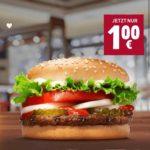 Nur heute per Burger King App: Whopper Jr. für 1€