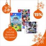 Müller-Adventskalender: 15 % Rabatt auf Switch & Nintendo 3DS Games
