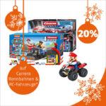 Nur Heute im Müller-Adventskalender: 20 % Rabatt auf Carrera-Rennbahnen & RC-Fahrzeuge