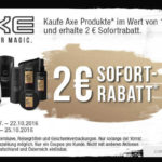 [Offline] 2€ AXE-Coupon