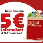 Penny: 5€ Sofortrabatt ab 60€ MBW