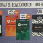 Rewe-Center: Geschenkkarten & Gutscheine mit 10%- 20% Rabatt