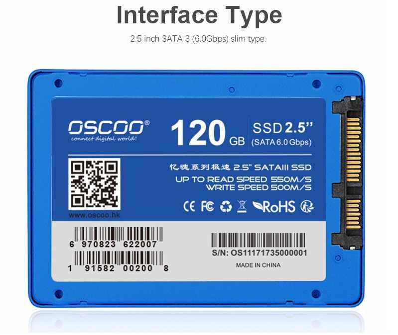 oscoo ssd 25 zoll sata iii 120gb solid state drive fuer 2636e inkl versand statt 4999e 1