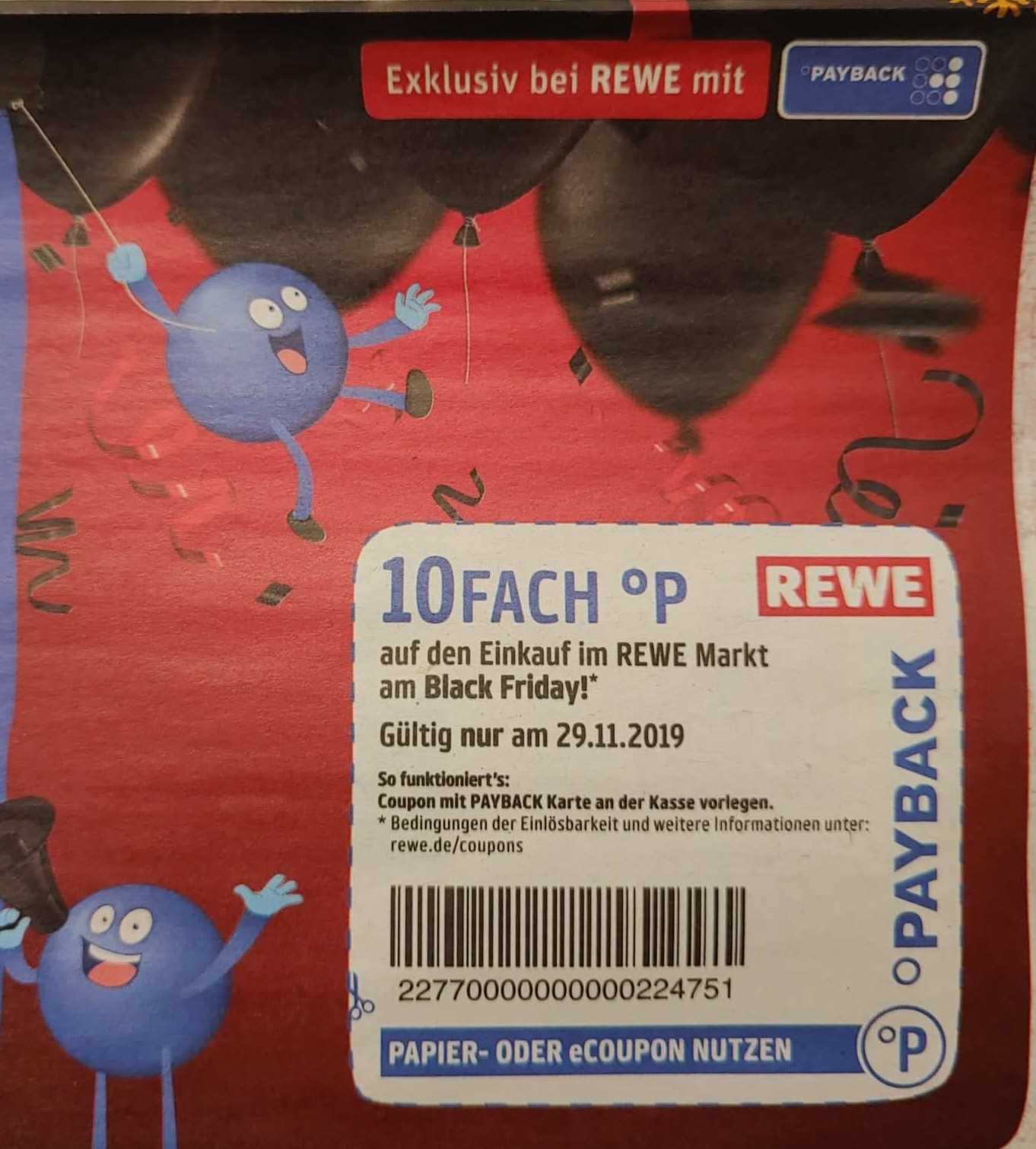 [Payback] 10-fach Payback-Punkte bei REWE 07.01.2020