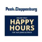 Peek & Cloppenburg: 15% Rabatt auf Jeans & Strickmode