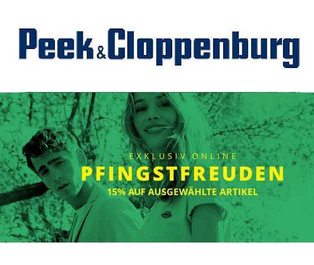 peek cloppenburg pfingstfreuden 15 rabatt auf ausgewaehlte mode