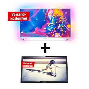 philips 49pus7272 49 zoll 4k tv mit 3 seitigem ambilight fuer 629e statt 809e gratis 22 philips full hd tv wert 125e