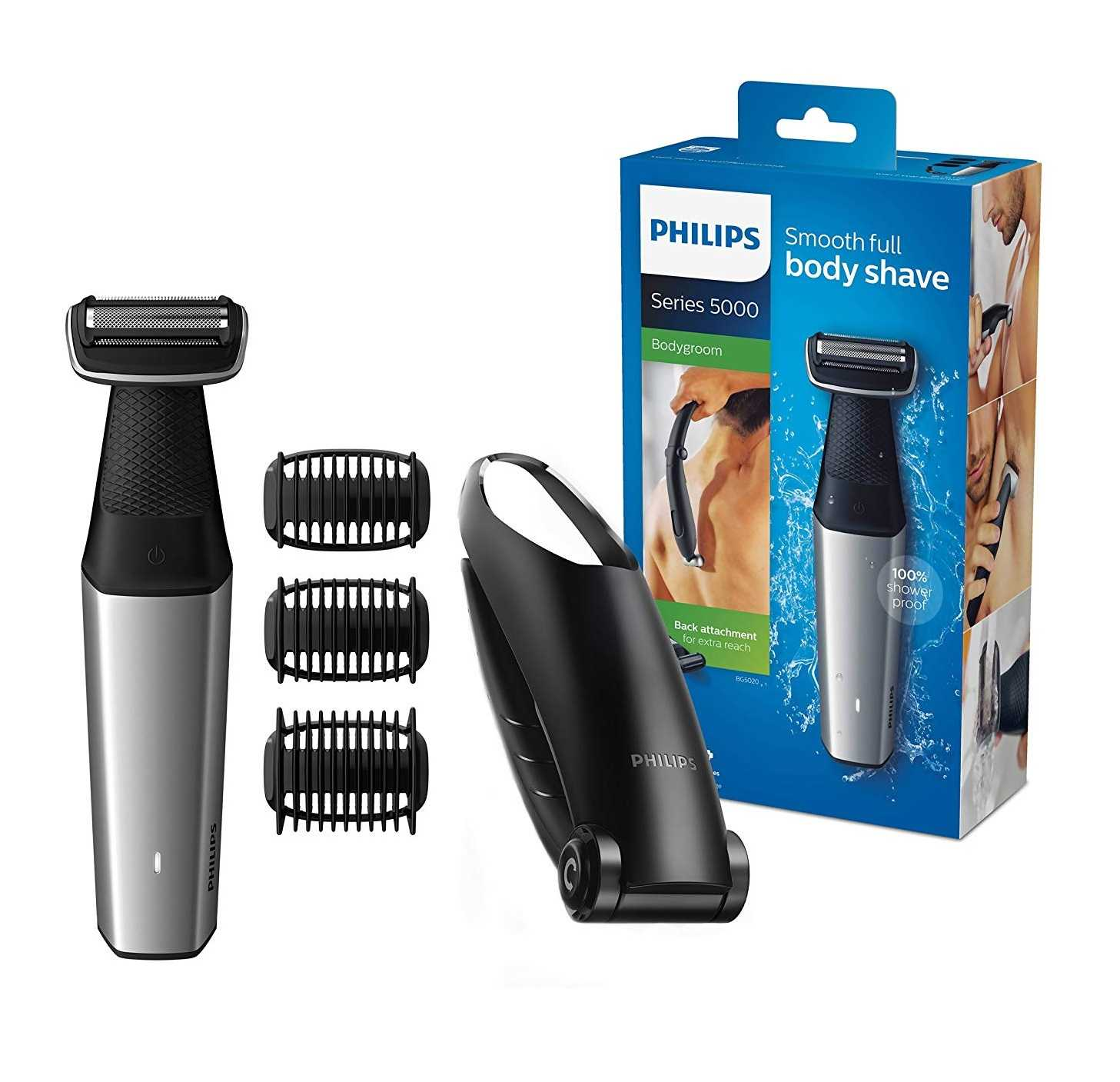 Philips Bodygroom Series 5000 Trimmer/Rasierer Set für 36,29€ (statt 48€)