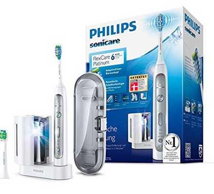 philips sonicare flexcare platinum elektrische zahnbuerste mit schalltechnologie hx917215 mit uv reinigungsgeraet fuer 9999e statt 11848e