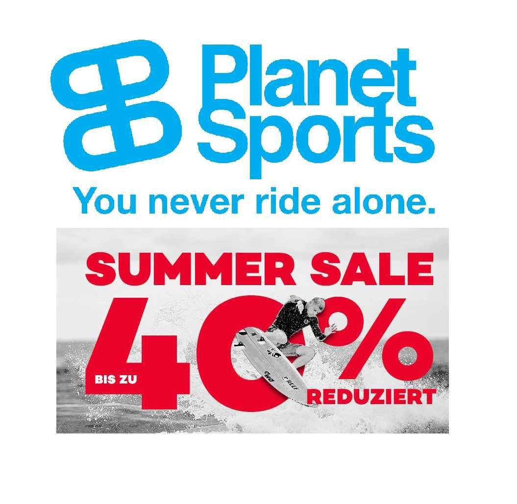 planet sports summer sale jetzt bis zu 40 rabatt 20 extra rabatt