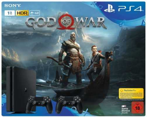 playstation 4 slim 1tb 2 controller god of war fuer 299 e statt 369 e 1