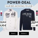 Power Sale bei Camp David: Hemden und Pullover bis zu 50% reduziert!