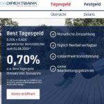 PSA Direkt Bank: Tagesgeld mit 0,70% Sonderzins-Aktion