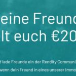 Rendity mit 2x 100€ Cashback durch Freundschaftswerbung