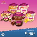 (REWE + Reebate APP) 1 x KOSTENLOS Ehrmann Grand Dessert (0,45€ Cashback bis 22.02.)