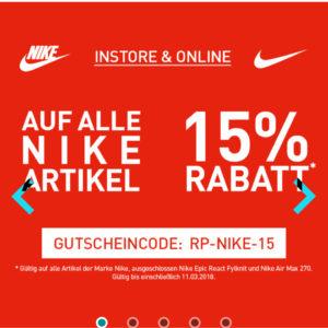 Donde comprar gran descuento de 2019 paquete de moda y atractivo Runners Point 15% Rabatt auf alle* Nike Artikel Online & Store ...