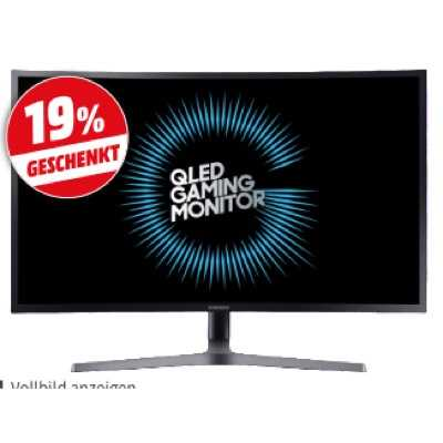 samsung c32hg70 led curved 31 5 zoll gaming monitor 2x hdmi 1x displayport 1x kopfhoereranschluss kanaele 1 ms reaktionszeit freesync 144 hz fuer 44469e statt 53596e 3