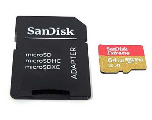 sandisk extreme 64 gb microsdxc speicherkarte sd adapter fuer 2299e statt 2799e