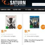 Saturn: Versch. 3D Blu-rays je 10€