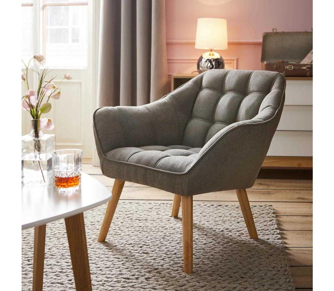 sessel monique grau modern holz textil moemax modern living