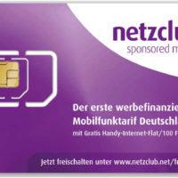 simkarte netzclub 100 mb