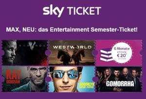 sky newsletter 6 monate sky entertainment ticket fuer einmalig 20e fuer studenten statt 5994e