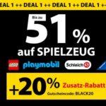 Spielemax: 20% Extra Rabatt auf Lego, Playmobil, Schleich, Ravensburger u.v.m.