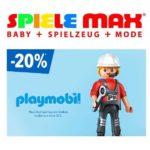 Spielemax: 20% Rabatt auf Playmobilartikel - Auch auf bereits reduzierte! (MBW 30€)