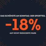 SportScheck: 18% Rabatt auf nicht reduzierten Artikel