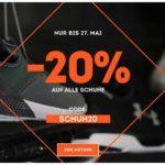 Sportscheck: 20% auf alle Schuhe
